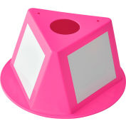 Global Industrial™ Inventory Control Cone W/ Dry Erase Decals, Hot Pink