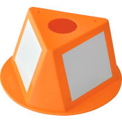 Inventory Control Cone with Dry Erase Decals - Orange