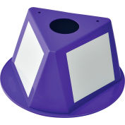Global Industrial™ Inventory Control Cone W/ Dry Erase Decals, Purple