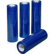 """Global Industrial™ Stretch Wrap, Fonte, Calibre 80, 18""""Wx1500'L, Teinte Bleue, qté par paquet : 4"""