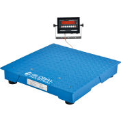 Global Industrial™ NTEP Pallet Scale With LED Indicator, 2'x2', 5,000 lb x 1 lb