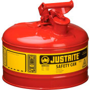 Safety Can Type I - 2-1/2 Gallon Galvanized Steel, Red, 7125100