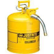 "Justrite® Safety Can Type II Accuflow™ 5 Gallon Galvanized Steel W/ 1"" Hose, 7250230"