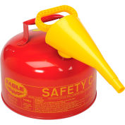 Eagle Type 1 Safety Can - 2.5 Gallon with Funnel - Red, Ul-25-FS
