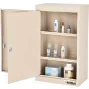"""Global Industrial™ Large Narcotics Cabinet, Double Door/Double Lock, 18""""W x 10""""D x 30""""H, Beige"""