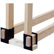 Pleasant Hearth 4-Pc. Log Brackets LS-B4 Black