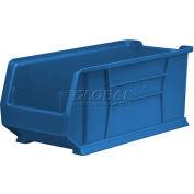"Akro-Mils Super-Size AkroBin® 30287 - Stacking Bin 11""W x 23-7/8""D x 10""H Blue - Pkg Qty 4"