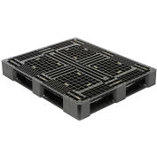 Palette empilable enplastique PEHDnoir, 48 x 40, capacité de levage de 4000lb