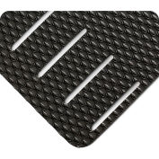 "Wearwell® Kushion Walk Slotted Anti Fatigue Runner 3/8"" Thick 3' x 60' Black"