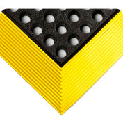 """Wearwell® Industrial WorkSafe® NBR Drainage Mat 5/8"""" Thick 3' x  9'8"""" Black/Yellow Border"""