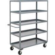 Heavy Duty Shelf Truck 5 Shelves 48x30 3000 Lb. Capacity