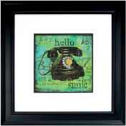 """Crystal Art Gallery - Hello With A Smile - 26""""W x 26""""H, Double Mat Framed Art"""