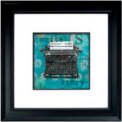 "Crystal Art Gallery - Write Story - 26""W x 26""H, Double Mat Framed Art"