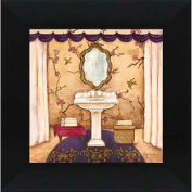 "Crystal Art Gallery - Purple Passion Sink 2 - 16""W x 16""H, Straight Fit Framed"