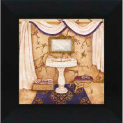 """Crystal Art Gallery - Purple Passion Sink 1 - 16""""W x 16""""H, Straight Fit Framed"""