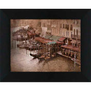 "Crystal Art Gallery - Gondolas 1 - 20""W x 16""H, Straight Fit Framed"