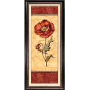 """Crystal Art Gallery - Red Passion Pavot - 18-1/2""""W x 42-1/2""""H, Linen Liner Framed"""