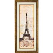 """Cristal Art Gallery - Paris - W 20"""" x 44"""" H, Double Mat encadré Art"""