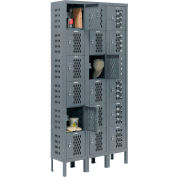 """Global Industrial™ Infinity® Six Tier 18 Dr Ventilated Locker, 12""""Wx15""""Dx12""""H, Unassembled"""