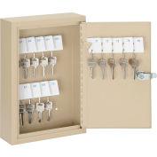 Global Industrial™ Key Cabinet - 30 Keys, Sand