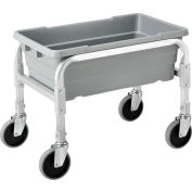 "Global Industrial™ NSF Aluminum Lug Cart 23""L x 15-1/2""W x 19""H, 1 Tote Capacity, All Welded"