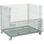 """Folding Wire Container 48""""L x 40""""W x 42-1/2""""H 3000 Lb. Capacity"""