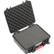 """Global Industrial™ Waterproof Hard Case W/Pinch Tear Foam, 11""""L x 9-11/16""""W x 4-3/16""""H, Black"""