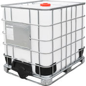 Global Industrial™ IBC Container 275 Gallon UN approved w/ Composite Metal Pallet Base