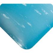 "Wearwell® SMART® Tile-Top™ Anti Fatigue Mat 1/2"" Thick 3' x 60' Blue"