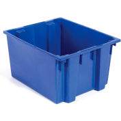 Global Industrial™ Stack and Nest Storage Container SNT300 No Lid 29-1/2 x 19-1/2 x 15, Blue - Pkg Qty 3