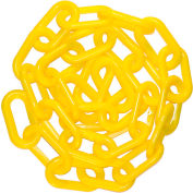 """Plastic Chain - 2"""" Links - In A Bag - Yellow - 50 Feet"""
