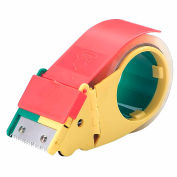 """Self Stick Tape Dispenser With Retractable Blade Durable Plastic 2"""" Tape Width"""