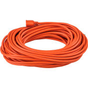 Global Industrial™ 100 Ft. Outdoor Extension Cord, 14/3 Ga, 13A, Orange