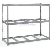 """Wide Span Rack 96""""W x 24""""D x 84""""H With 3 Shelves No Deck 800 Lb Capacity Per Level - Gray"""