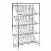"Slant Wire Shelving - 5 Shelves - 48""W x 18""D x 54""H"