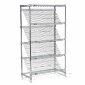 "Slant Wire Shelving - 5 Shelves - 48""W x 18""D x 63""H"