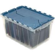 Bac transparent Akro-Mils KeepBox 66486FILEB, couvercle attaché, avec rails pour chemises, 21-1/2 po L x15 po l x12-1/2 po H, qté par paquet : 6