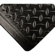 "Wearwell® SubStance Diamond Anti Fatigue Mat 1/2"" Thick 2' x 3' Black"
