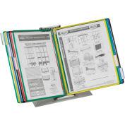 Tarifold® Desktop Organizer Starter Set, 10 Assorted Color Pockets