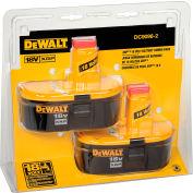 DeWALT DC9096-2 18V XRP™ Battery Combo Pack 2,4 Amp NiCad - 2 Pack