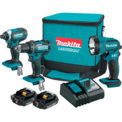 Makita CT320R 3pc Cordless 18V Compact Lithium-Ion Combo Kit (3 Piece)