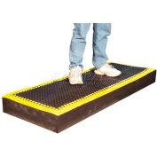 """Add-A-Mat™ anti-fatigue Mat, 7/8"""" épais, 36""""X 66», frontière noir/jaune"""