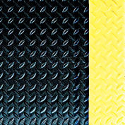 Crown #540 Workers-Delight™ Supreme Deck Plate W/ Zedlan Foam Backing 3'X5' Black/Yellow