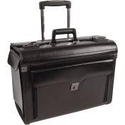 Mallette en cuir avec roues Bond Street 546110,9 po l x 15 po H x 19 po L, noir