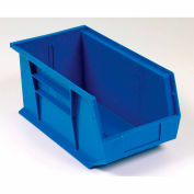 Global Industrial™ Plastic Stack and Hang Parts Storage Bin 5-1/2 x 14-3/4 x 5, Blue - Pkg Qty 12