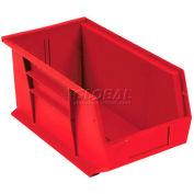 """Plastic Stack & Hang Bin, 8-1/4""""W x 18""""D x 9""""H, Red - Pkg Qty 6"""