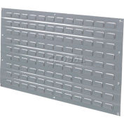 Global Industrial™ Louvered Wall Panel Without Bins 36x19 Gray Price for pack of 4