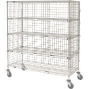 Nexel® Enclosed Wire Exchange Truck 5 Wire Shelves 800 Lb. Cap.