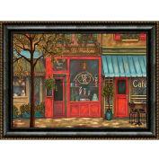 """Galerie d'Art de cristal - toile encadrée w/papier peinture paysage - W 40"""" x 30"""" H, Straight Fit encadrée"""