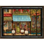 "Crystal Art Gallery - Framed Canvas w/Foil Three Lips - 40""W x 30""H, Straight Fit Framed"